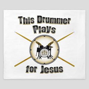 Drum for Jesus King Duvet