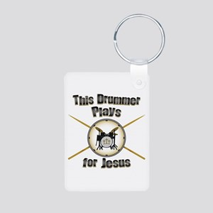 Drum for Jesus Aluminum Photo Keychain