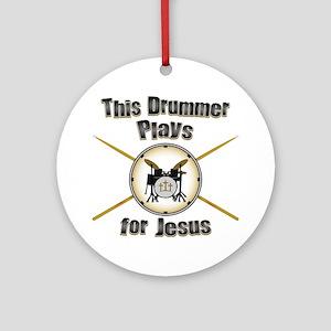 Drum for Jesus Ornament (Round)