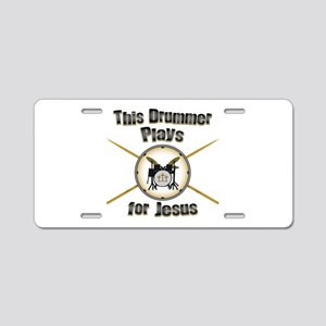 Drum for Jesus Aluminum License Plate