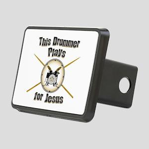 Drum for Jesus Rectangular Hitch Cover