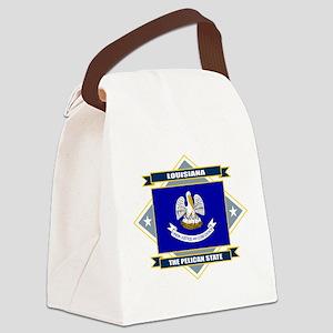 Louisiana diamond Canvas Lunch Bag