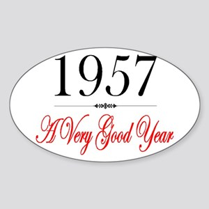 1957 Oval Sticker