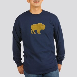American Bison Long Sleeve Dark T-Shirt