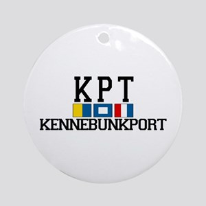 Kennebunkport ME - Varsity Design. Ornament (Round