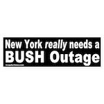 NY Needs a Bush Outage Bumper Sticker