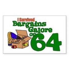 Bargains Galore on 64 Rectangle Sticker