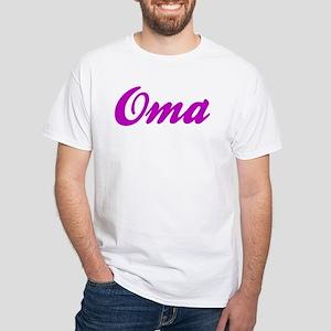Oma White T-Shirt (to size 4X)