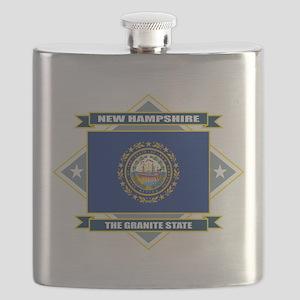 New Hampshire diamond Flask