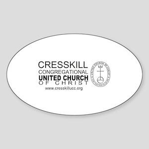 Church Oval Sticker
