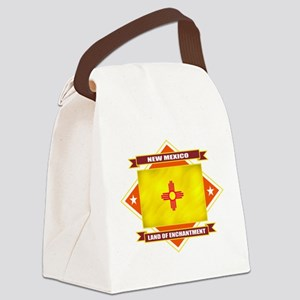2-New Mexico diamond Canvas Lunch Bag