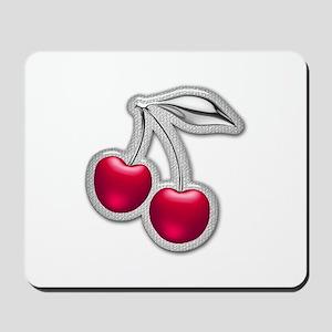 Glass Chrome Cherries Mousepad