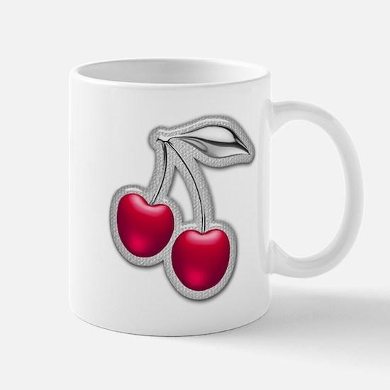 Glass Chrome Cherries Mug