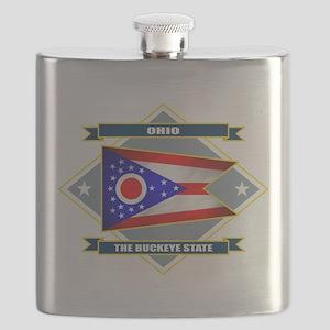 Ohio diamond Flask