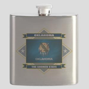 Oklahoma diamond Flask