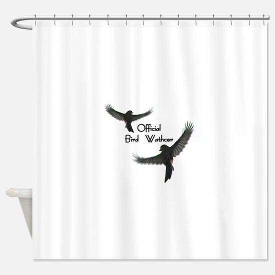 Official Bird Watcher Shower Curtain