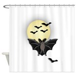 Full Moon Bats Shower Curtain
