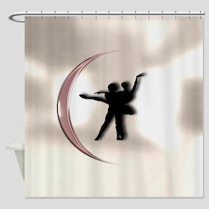 Ballet Dance Pink Shower Curtain