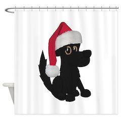 Christmas Dog Shower Curtain