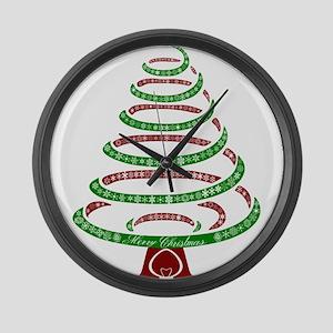 Christmas Tree Large Wall Clock