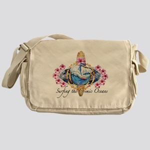 A cosmic surfing trip on your mind Messenger Bag