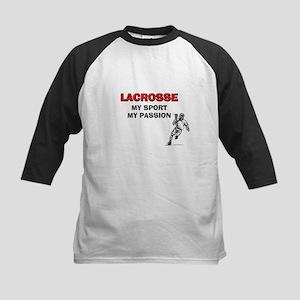 Lacrosse My Sport My Passion Kids Baseball Jersey