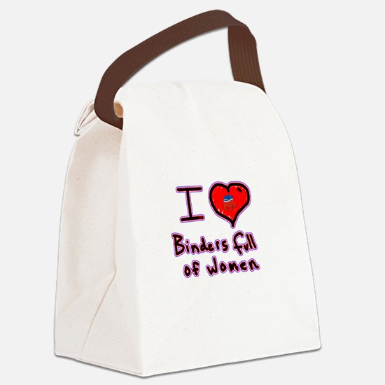 i love binders full of women Mitt Romney Canvas Lu
