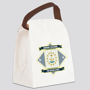 Rhode Island diamond Canvas Lunch Bag
