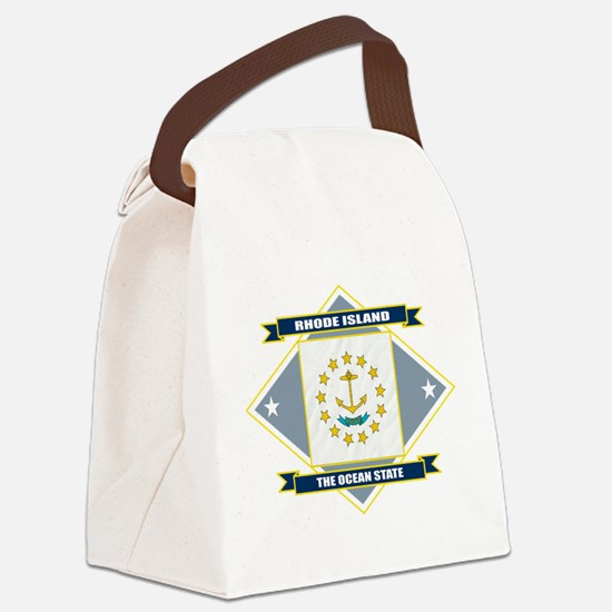 Rhode Island diamond.png Canvas Lunch Bag