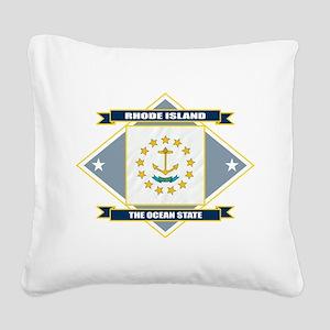 Rhode Island diamond Square Canvas Pillow