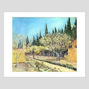 Van Gogh Flowering Fruit Garden Small Poster
