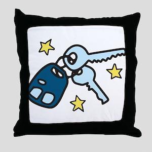 Car Keys Throw Pillow