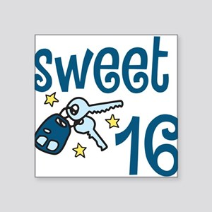 "Sweet 16 Square Sticker 3"" x 3"""