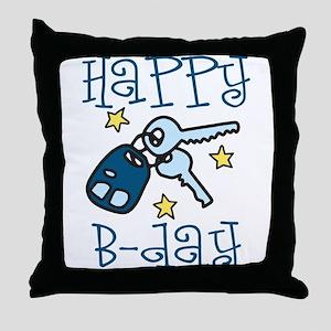 Happy B-day Throw Pillow