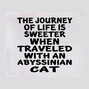 Traveled With abyssinian Cat Throw Blanket