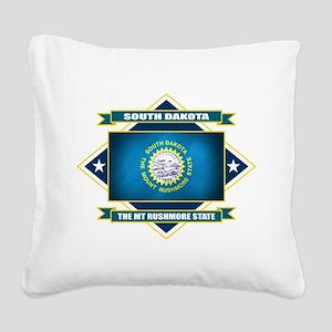 South Dakota diamond Square Canvas Pillow
