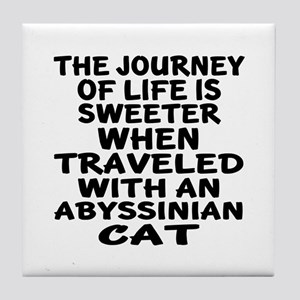 Traveled With abyssinian Cat Tile Coaster