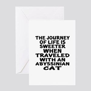 Traveled With abyssinian Cat Greeting Card