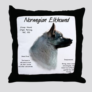 Norwegian Elkhound Throw Pillow
