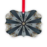 Gilded Bobsledding Flies Ornament