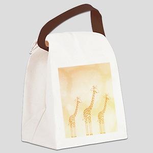 Giraffe Trio Canvas Lunch Bag