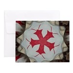 Red Firecracker Bugs Note Cards (Set of 10)