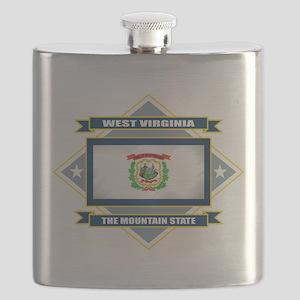 West Virginia diamond Flask