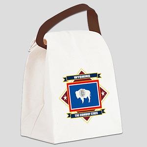 Wyoming diamond Canvas Lunch Bag