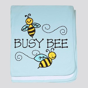Busy Bees baby blanket