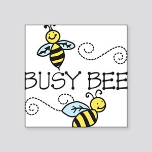 """Busy Bees Square Sticker 3"""" x 3"""""""