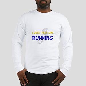 Dry Felt Like Running Yellow Long Sleeve T-Shirt