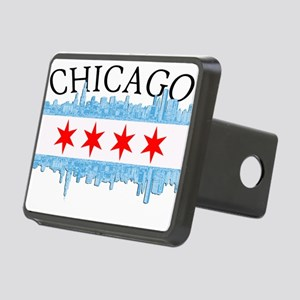 Chicago Skyline Rectangular Hitch Cover
