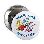Peace Love R&R Button