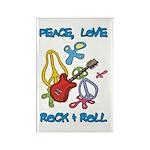 Peace Love R & R Rectangle Magnet